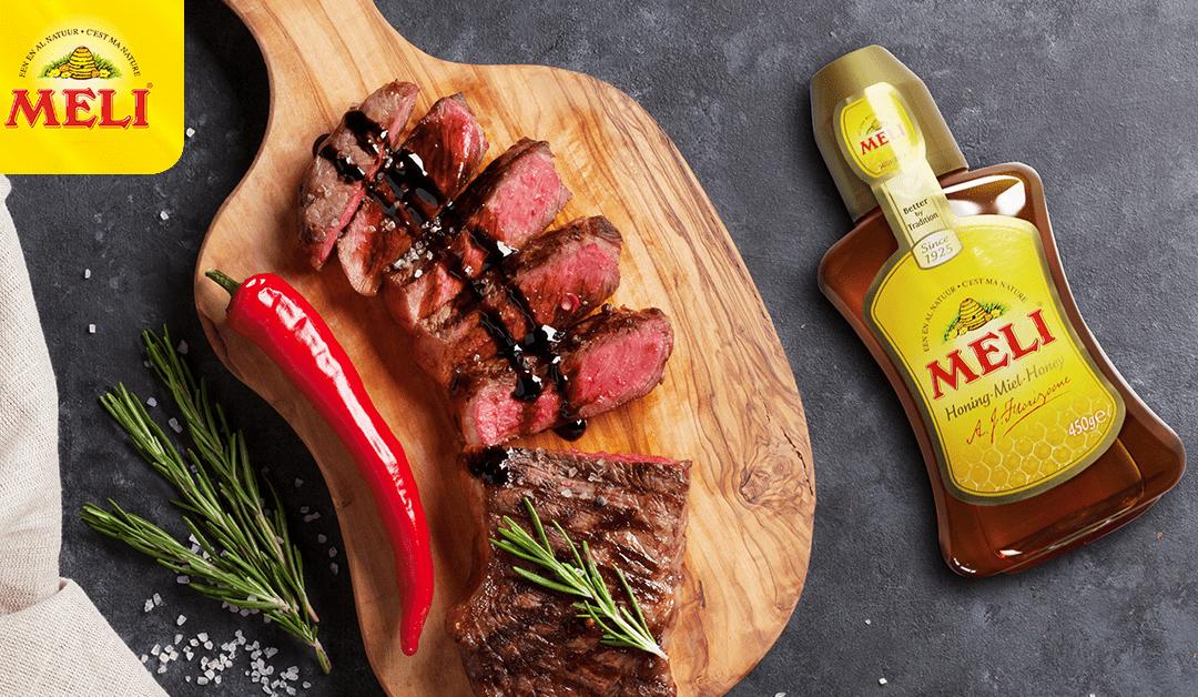 Steak met balsamico-honingsaus en sperziebonen