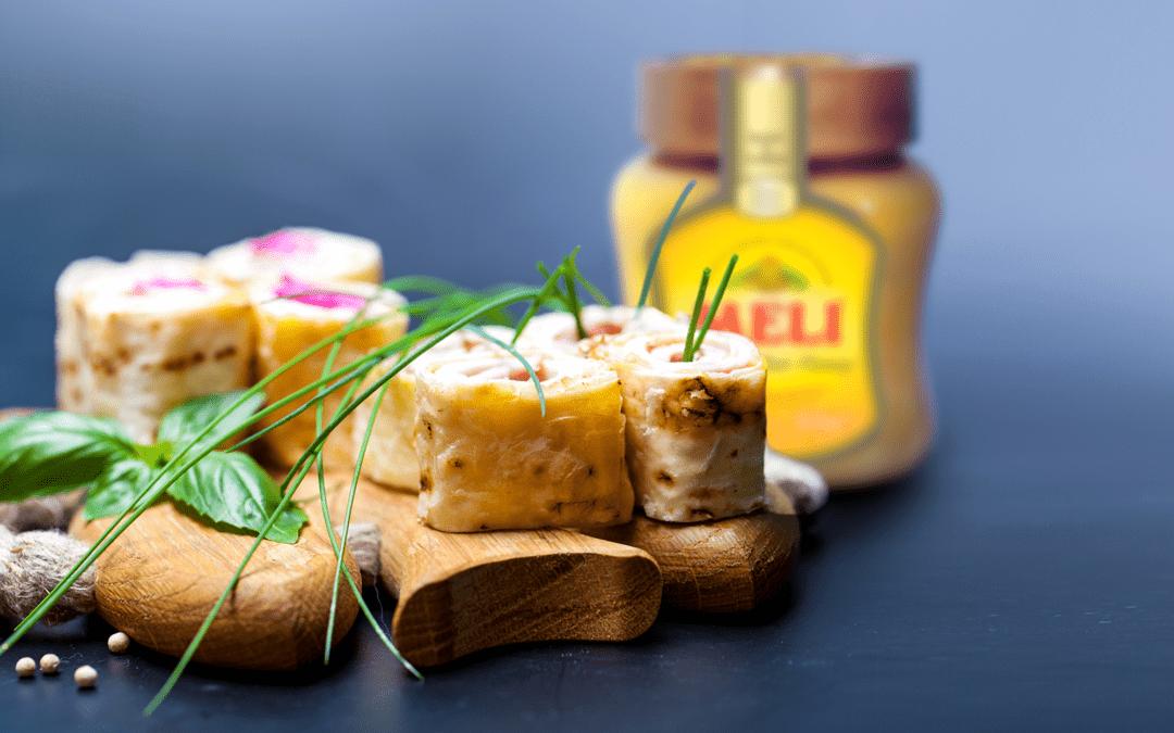 Roulés jambon-miel