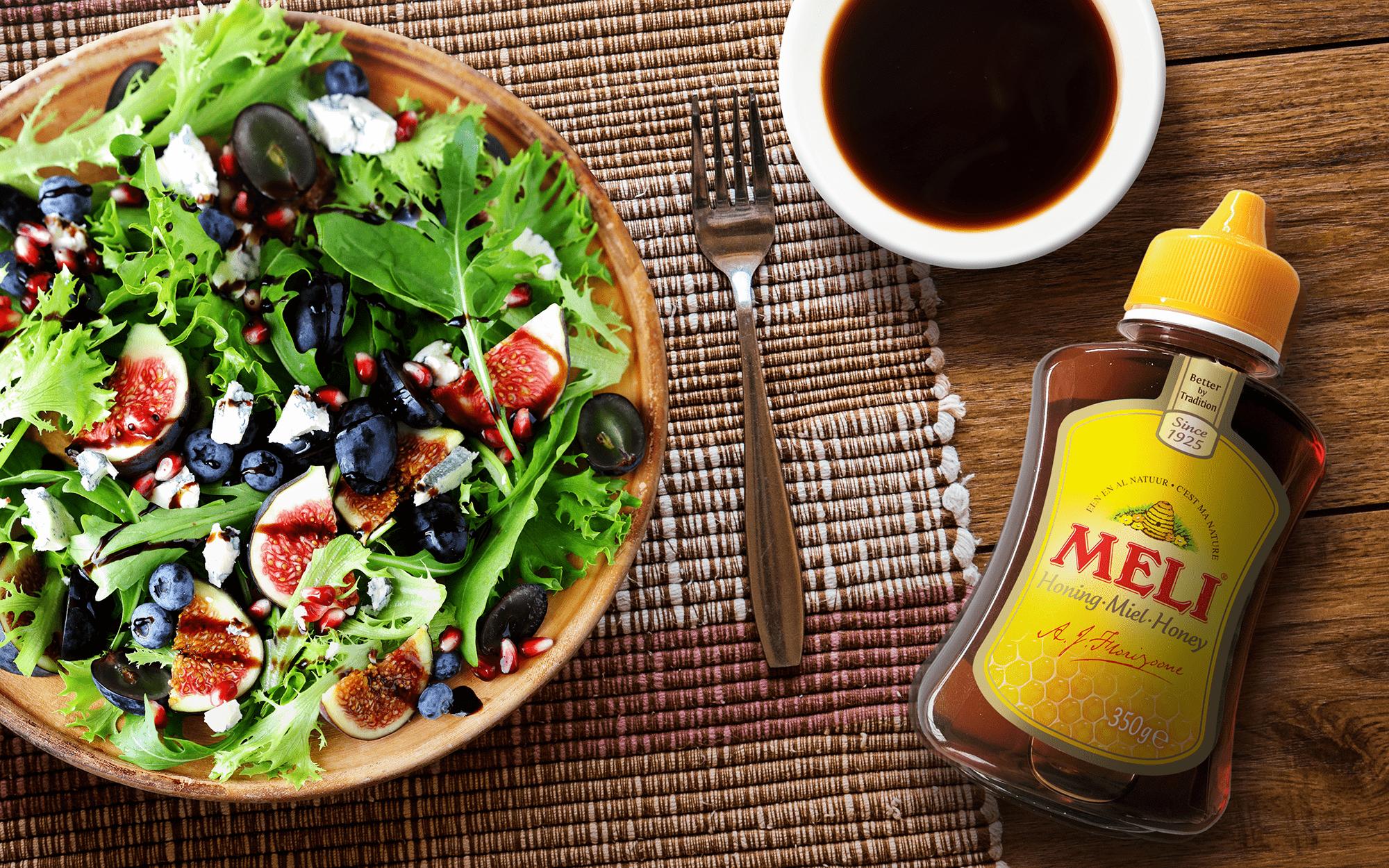 Salade d'automne avec vinaigrette de miel & balsamique