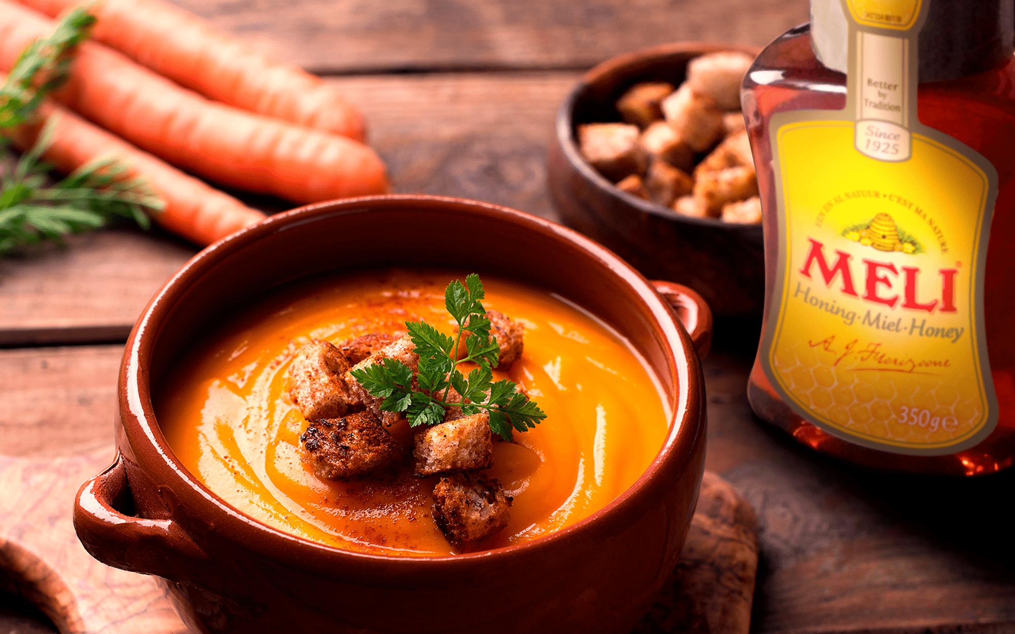 Soupe de carottes au miel