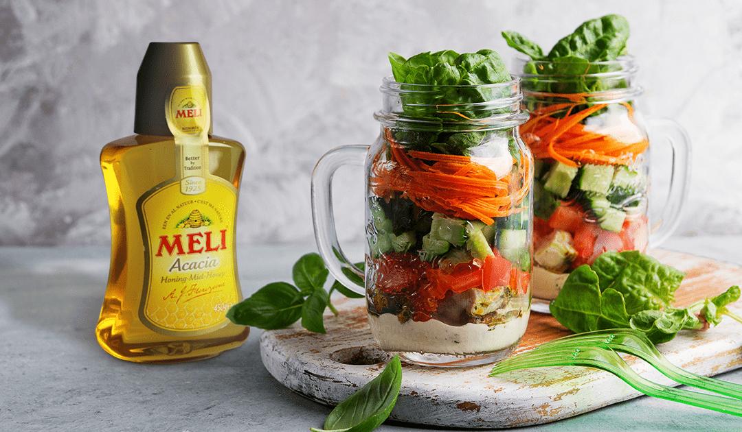 Salade thaïe en pot