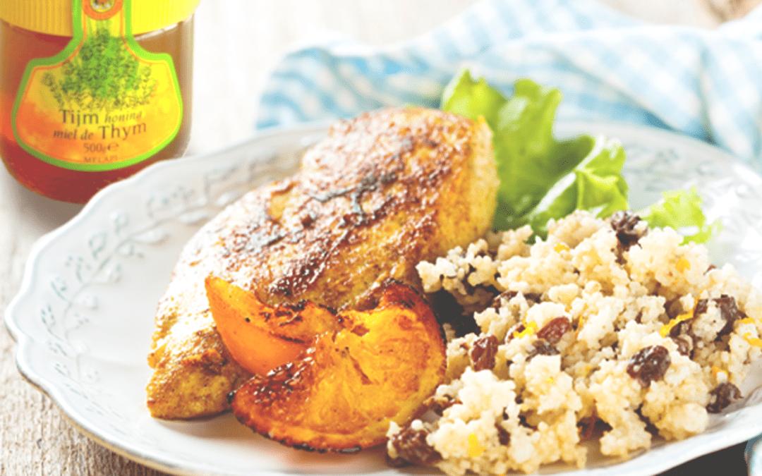Couscous met honing, rozijnen en pecannoten