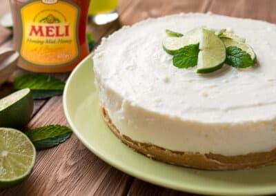 Cheesecake met limoen en vanille
