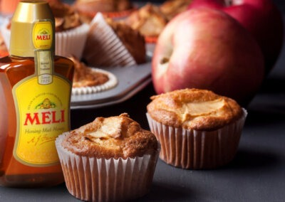 Honing-appel muffins