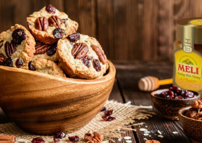 Verrassende ontbijtkoekjes met banaan, noten en honing