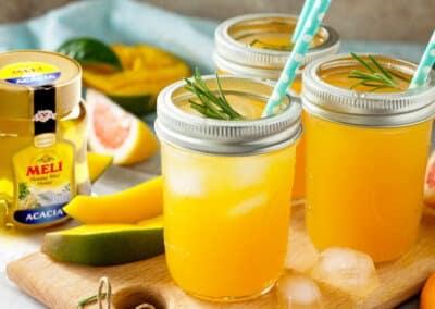 Mocktail met pompelmoes en mango
