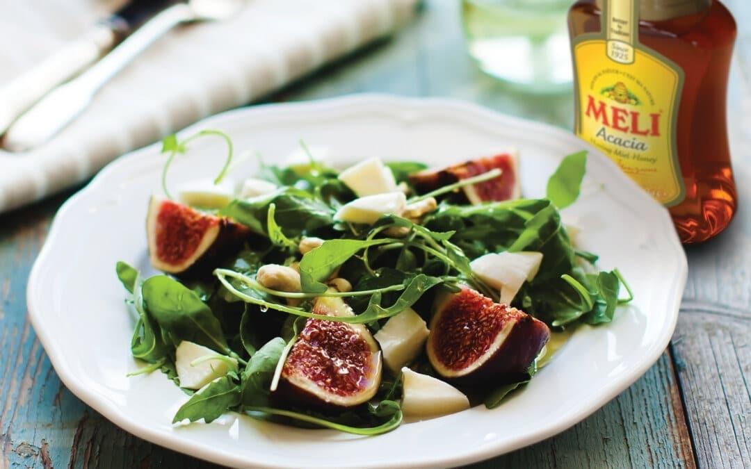 Salade aux figues fraîches et pecorino