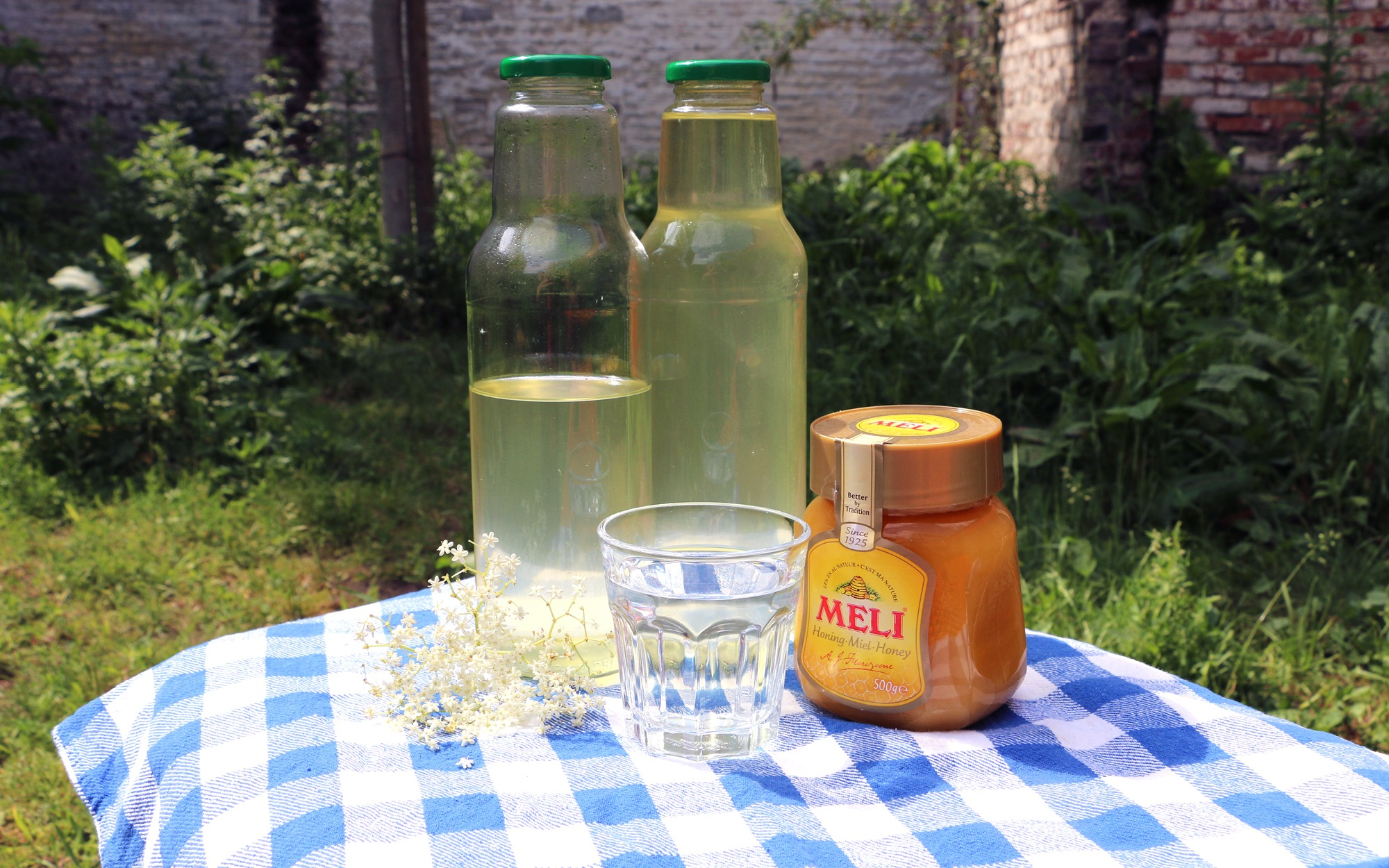 Vlierbloesemsiroop met honing