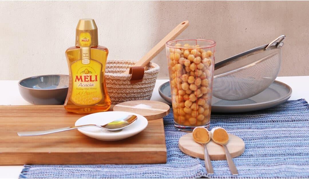 Geroosterde kikkererwten met honing en kaneel