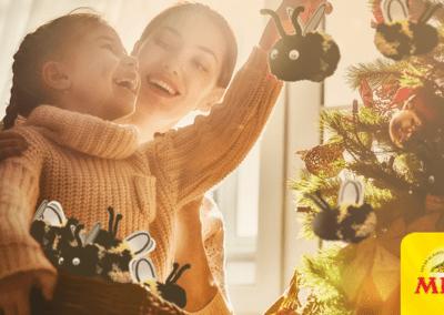 Hang eens een bij in je kerstboom!