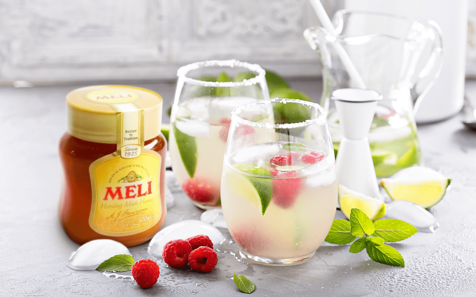 Mocktail : Limonade à la rose et au miel