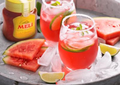 Cocktail: honing-watermeloen sangria