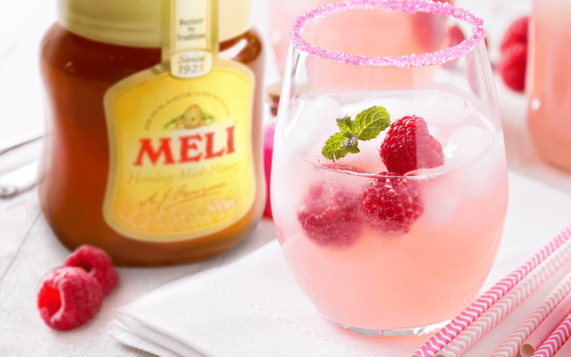 Mocktail: Raspberry Bee's Knees