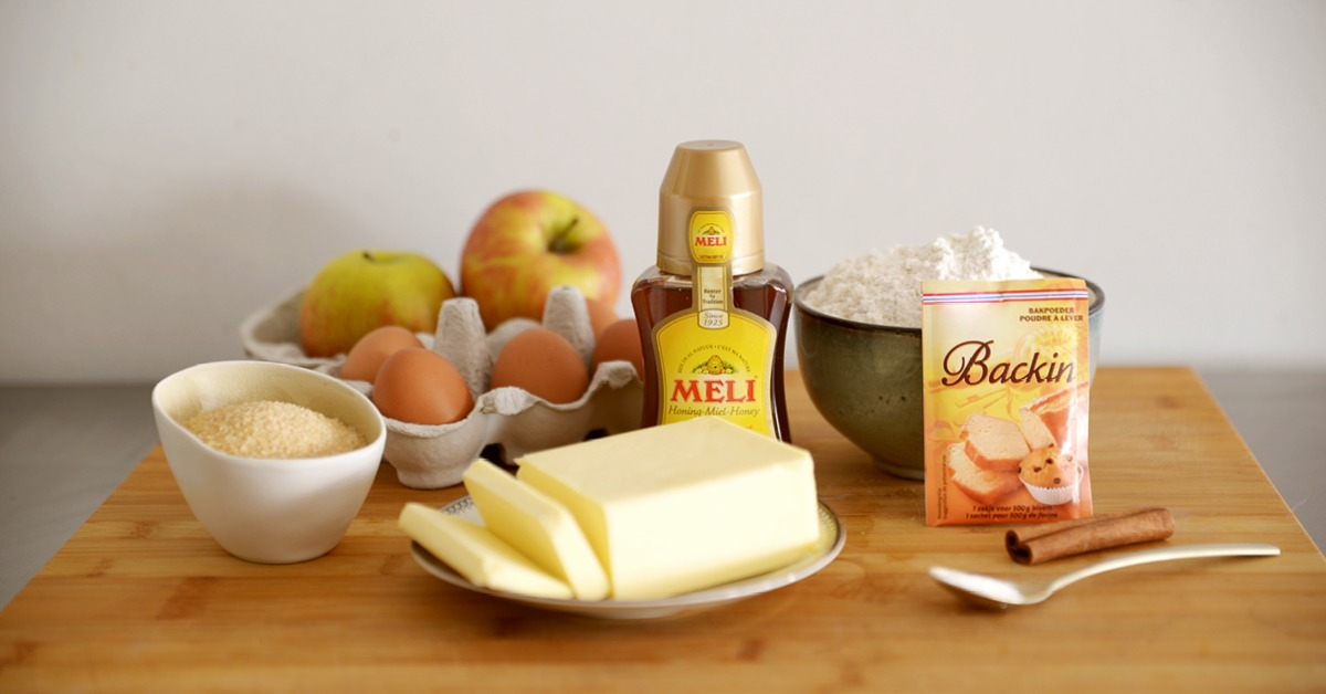 Valentijnscake met appel en honing