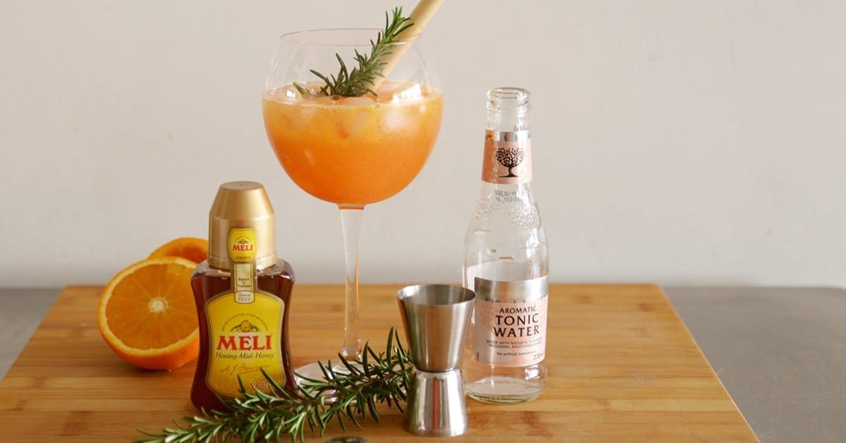 Mocktail met bloedsinaasappel