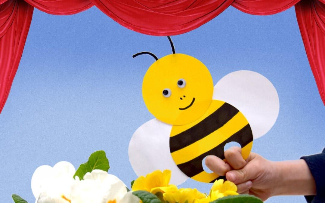 Amusantes marionnettes de doigt abeilles