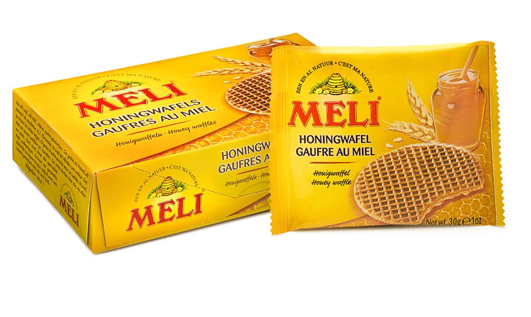 Filled honey waffles