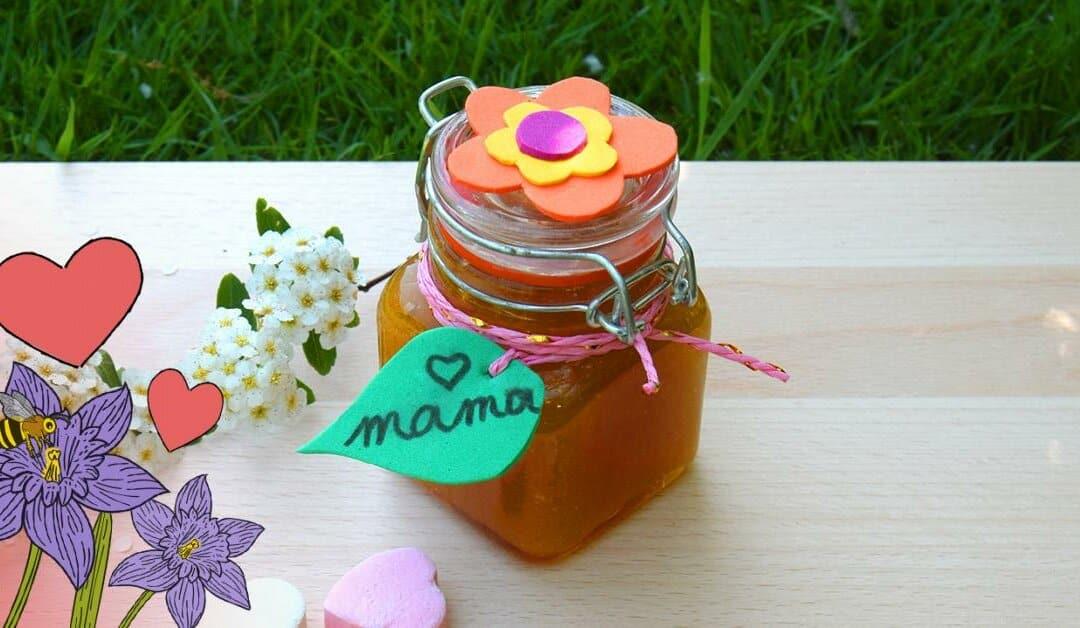 Maak een scrub in een vrolijk potje voor moederdag
