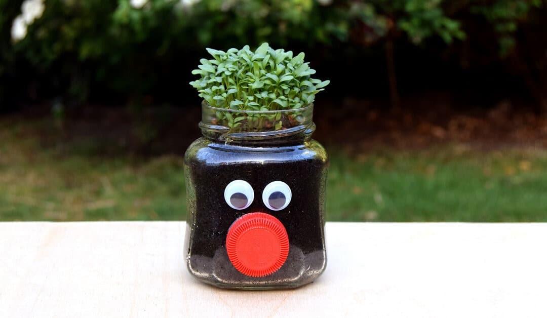 Upcycling met Meli: Maak een tuinkersmannetje