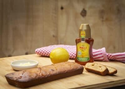 Honingcake met citroen en gember