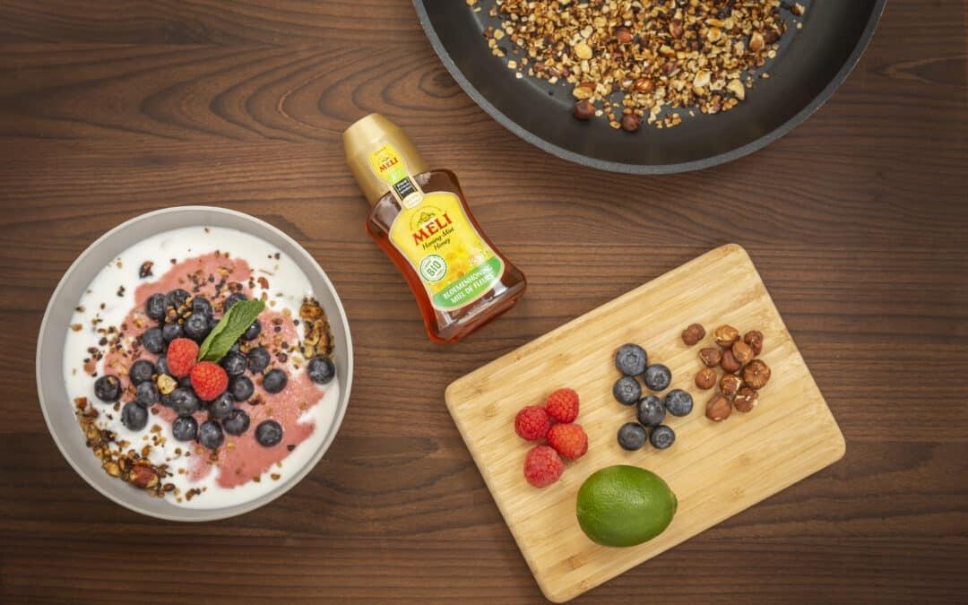 Griekse yoghurt met fruit en honing