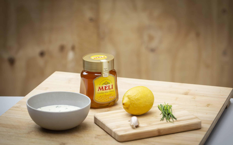 Vinaigrette met honing en bieslook
