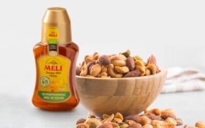 Borrelnootjes met honing, chili & gember