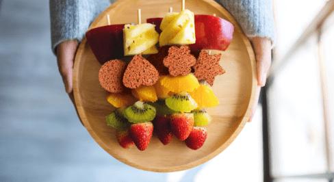 Fruitspies met honingkoek