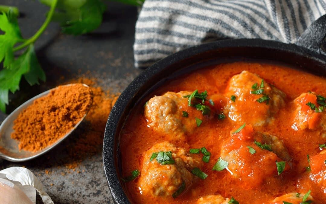 Albondigas en salsa de tomates