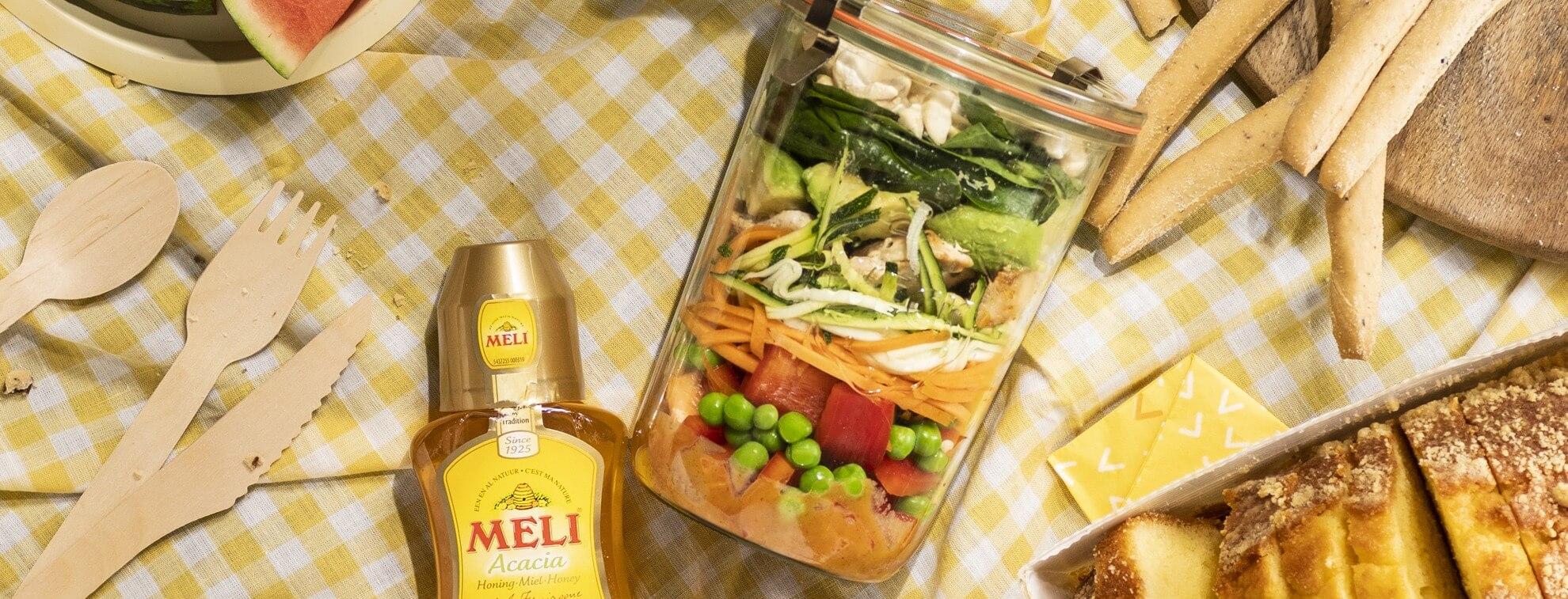Thaise jar salad